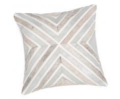 Fodera di cuscino argento/pelliccia sintetica 40x40 cm NARO