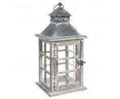 Lanterna in legno H 38 cm VERDIERE
