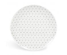 Piatto da dessert in porcellana D 19 cm GRAPHIQUE
