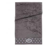 Asciugamano da toilette grigio in cotone 30 x 50 cm PARIS