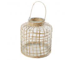 Lanterna in bambù e vetro