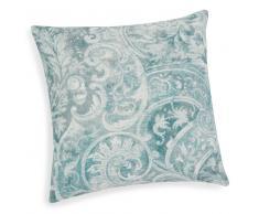 Federa di cuscino blu in cotone 40 x 40 cm EUDES