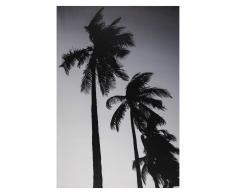 Tela con stampa di palma nera e bianca 95x140cm FORTALEZA