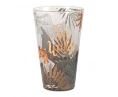 Boccale da birra in vetro stampa pantera
