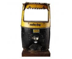 Mobile bar giallo/nero in metallo L 95 cm Touk Touk