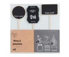 Kit 3 bastoncini decorativi per piante