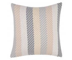 Fodera di cuscino multicolore con motivi a spina di pesce in cotone 40x40