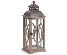 Lanterna in legno H 62 cm ORANGERIE