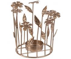 Candeliere fiori in metallo dorato