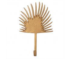 Attaccapanni palma a 1 gancio in metallo dorato