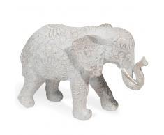 Statuetta elefante effetto sbiancato H.19 cm TOLUCA