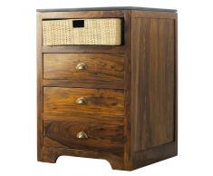Mobile basso da cucina in massello di legno di sheesham L 60 cm Lubéron