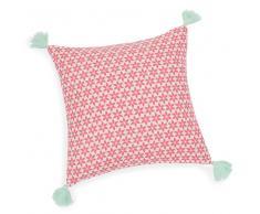 Federa di cuscino con pompon in cotone 40 x 40 cm JASMINE