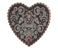 Zerbino in fibra di cocco a forma di cuore 50 x 50 cm MAGDALENA