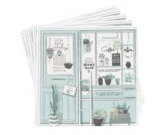 Tovagliolo di carta verde stampa vetrina