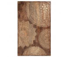 Quadro scolpito in legno dorato 50 x 82 cm MANDALA