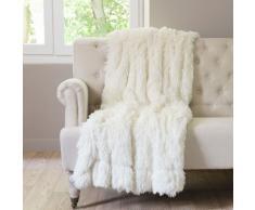 Coperta bianca in simil pelliccia 130 x 170 cm VAL THORENS