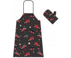 Booster Set di guanti grembiule e forno, multicolore