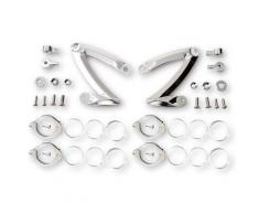 HIGHSIDER CNC Set di portabottiglie- STYLE, per 47-49-50-52-54 mm, argento