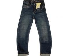 Modeka Alexius Pantaloni Tessili Moto Per Bambini, blu, dimensione 140
