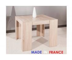 Tavolo-Consolle allungabile ELASTO legno di quercia chiaro, 10 posate.