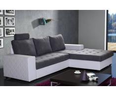 WATERFORD Divano ad angolo letto trasformabile express 140cm grigio e bianco