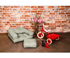 Poltrona letto per bambini CUBE 3 in 1 futon talpa chiaro 60*135*12cm
