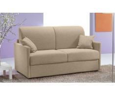 SUN divano 2-3 posti in tessuto tweed crema sistema letto RAPIDO 120*197*14cm