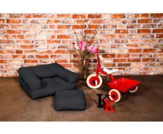 Poltrona letto per bambini CUBE 3 in 1 futon grafite 60*135*12cm