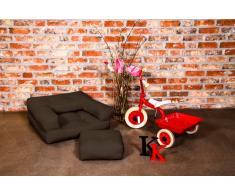 Poltrona letto per bambini CUBE 3 in 1 futon marrone 60*135*12cm