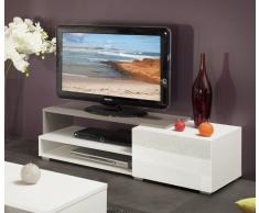 PACIFIC Mobile TV bianco e laccato tortora lucido L120cm