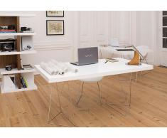 TRESTLES TEMAHOME Scrivania design bianco 160 x 90