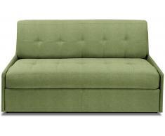 TRIOMPHE divano compatto in microfibra verde sistema letto RAPIDO RENATONISI 140cm rete a doghe materasso 15cm