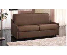 LUNA divano 2-3 posti in pelle talpa sistema letto RAPIDO 120*197*14 cm bracci ultra sottili