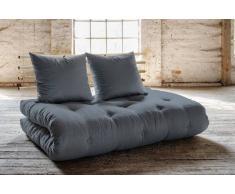 SHIN SANO divano letto in pino massiccio con materasso futon grigio 140*200cm