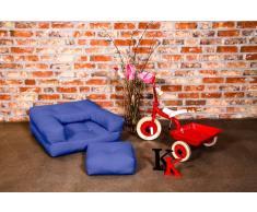 Poltrona letto per bambini CUBE 3 in 1 futon porpora 60*135*12cm