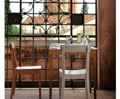 LA LOCANDA Tavolo da pranzo 70x70 di CALLIGARIS laminato noce