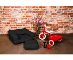 Poltrona letto per bambini CUBE 3 in 1 futon nero 60*135*12cm