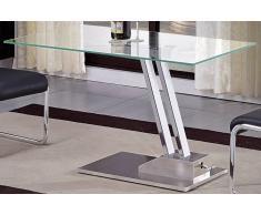 STEP Tavolino trasformabili in vetro tremprato