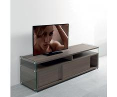 TALAC Mobile TV design olmo con due porte scorrevoli