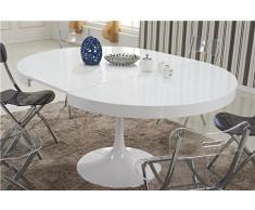 Tavolo da pranzo estensibile bianco TULIPE