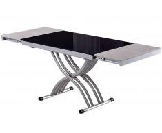 NEWFORM tavolino trasformabile in vetro nero
