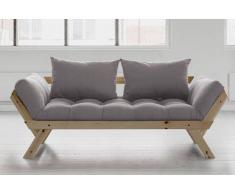 Divano letto trasformabile BEBOP design scandinavo con materasso futon 75*200cm