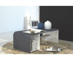 S-TIME Tavolino o mobile TV design effetto marmo