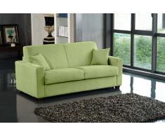 DREAMER divano in microfibra verde lime sistema letto RAPIDO 120*197*14cm