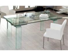VITRO tavolo allungabile per sala pranza in vetro L 140cm