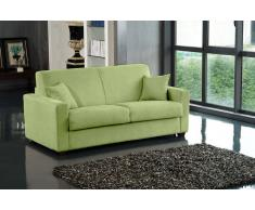 DREAMER divano 3-4 posti in microfibra verde lime sistema letto RAPIDO 160*197*14cm