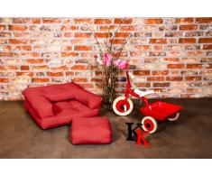Poltrona letto per bambini CUBE 3 in 1 futon rosso 60*135*12cm