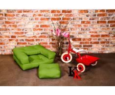 Poltrona letto per bambini CUBE 3 in 1 futon verde lime 60*135*12cm
