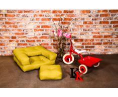 Poltrona letto per bambini CUBE 3 in 1 futon giallo 60*135*12cm